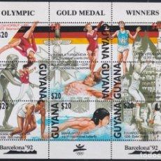 Sellos: F-EX23999 GUYANA MNH 1992 OLYMPIC BARCELONA ´92 WINNER ATHLETISM GYMNASTICS. Lote 270229278