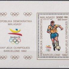 Sellos: F-EX24862 MADAGASCAR MNH 1990 OLYMPIC BARCELONA ´92 SOCCER FUTBOOL FUTBOL. Lote 270229303