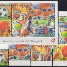 Sellos: F-EX24808 SINGAPORE SINGAPUR MNH 1990 OLYMPIC BARCELONA ´92 SOCCER ATHLETISM.. Lote 270229353