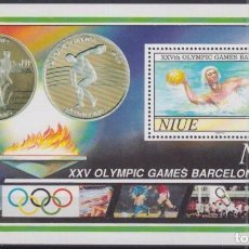 Sellos: F-EX24878 NIUE MNH 1992 OLYMPIC BARCELONA ´92 STADIUM OLYMPIC FLAME WATER POLO. Lote 270229403
