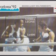 Sellos: F-EX24892 SIERRA LEONE MNH 1990 OLYMPIC BARCELONA ´92 BOXING LIGHT WELTERWEIGHT.. Lote 270229423