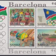 Sellos: F-EX24882 NAMIBIA MNH 1992 OLYMPIC BARCELONA ´92 ATHLETISM SWIMMER FLAG.. Lote 270229428