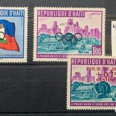 Timbres: HAITI. YVERT185/6 Y 177. OLIMPIADAS CON SOBRECARGAS. NUEVOS SIN FIJASELLOS.. Lote 273753238