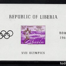Sellos: LIBERIA HB 16** - AÑO 1960 - JUEGOS OLÍMPICOS DE ROMA. Lote 277502308