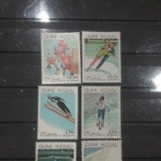 Sellos: SELLO GUINEA BISSAU MTDOS(6 DE 7V)/1983/JUEGOS/OLIMPIADA/INVIERNO/SARAJEVO/BOSNIA/HOCKY/ESQUI/PATINA. Lote 277634483