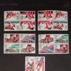 Sellos: OLYMPIC GAMES - USA 84 - 5 BLOCS -OLYMPIADAS. Lote 278282923