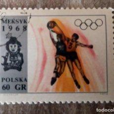 Sellos: SELLO USADO POLONIA 1968, JUEGOS OLÍMPICOS DE MÉXICO. Lote 278490838