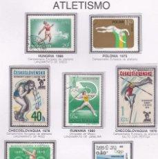 Sellos: LOTE DE SELLOS DE OLIMPIADAS - ATLETISMO - DEPORTES - AHORRA EN EL ENVIO Y COMPRA MAS. Lote 282072273