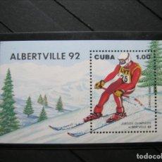 Sellos: CUBA HOJA JUEGOS OLÍMPICOS OLIMPIADA ALTBERVILLE 92 MNH** SIN CHARNELA LUJO!!!. Lote 282933353