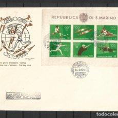 Sellos: SAN MARINO 1960 SOBRE PRIMER DIA DEPORTES OLIMPIADAS DE ROMA SIN DENTAR 3 ESCANEOS - 197. Lote 287118303