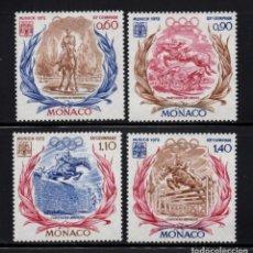 Sellos: MONACO 890/93** - AÑO 1972 - JUEGOS OLIMPICOS DE MUNICH - EQUITACION. Lote 287338813
