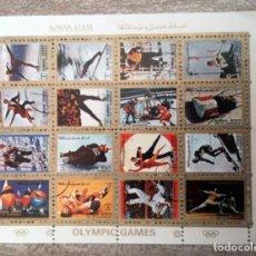 Sellos: DEPORTES MINI HOJA, AJMAN STATE 1972, JUEGOS OLIMPICOS. Lote 287366513