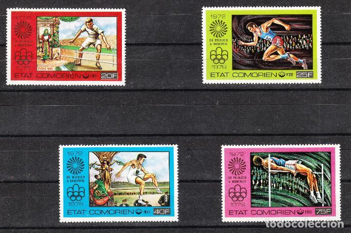 1976 JUEGOS OLÍMPICOS VERANO COMORES DE MUNICH A MONTREAL ** (Sellos - Temáticas - Olimpiadas)