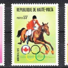 Sellos: ALTO VOLTA 380/82 AÑO 1976 - JUEGOS OLIMPICOS DE MONTREAL **. Lote 287685853