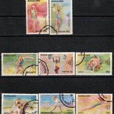 Sellos: NAGALAND (INDIA), OLIMPIADA DE MUNICH 1972, USADO (SERIE COMPLETA). Lote 287930893
