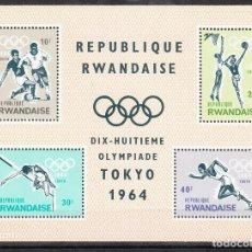 Sellos: 1964 RUANDA/RWANDA TOKYO 64. Lote 288057218