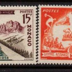 Sellos: MONACO 442/43** - AÑO 1956 - JUEGOS OLIMPICOS DE MELBOURNE Y CORTINA DE AMPEZZO. Lote 288085648