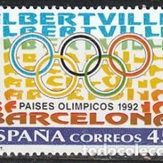 Sellos: EDIFIL 3211, PAISES OLIMPICOS: BARCELONA-ALBERTVILLE, NUEVO ***. Lote 288700758