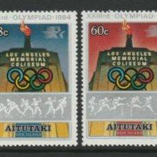 Sellos: AITUTAKI 1984 IVERT 400/3 *** JUEGOS OLÍMPICOS DE LOS ANGELES - DEPORTES. Lote 288941488