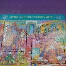 Sellos: HB N. UNIDAS (NUEVA YORK) MTDO/1996/CENTENARIO/JUEGOS/OLIMPIADA/MODERNOS/BALONCESTO/VOLEIBOL. Lote 289344493