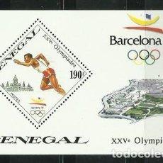 Sellos: SENEGAL 1989 - JUEGOS OLIMPICOS DE BARCELONA 92 - ATLETISMO - CARRERA. Lote 289502713