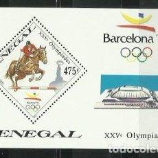Sellos: SENEGAL 1989 - JUEGOS OLIMPICOS DE BARCELONA 92 - ATLETISMO - HIPICA. Lote 289502893