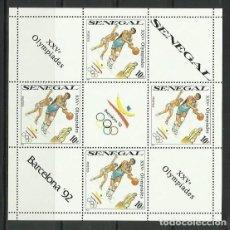 Sellos: SENEGAL 1989 - JUEGOS OLIMPICOS DE BARCELONA 92 - BALONCESTO - BASKETBALL. Lote 289503088
