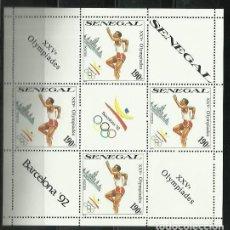 Sellos: SENEGAL 1989 - JUEGOS OLIMPICOS DE BARCELONA 92 - ATLETISMO - CARRERA. Lote 289503548