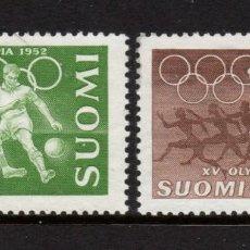 Sellos: FINLANDIA 388/89** - AÑO 1952 - JUEGOS OLIMPICOS, HELSINKI. Lote 289877908