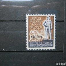Sellos: ITALIA TRIESTE 1952 OLIMPIADAS JUEGOS OLÍMPICOS MNH** SIN CHARNELA LUJO!!!. Lote 292308188