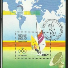 Sellos: GUINEA BLOQUE DE SELLOS DE LOS JUEGOS OLIMPICOS- VELA- WINDSURF- OLIMPIADAS LOS ANGELES 1984. Lote 292561853