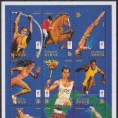 Sellos: F-EX27762 KENYA MNH 1996 ATLANTA OLYMPIC EQUESTRIAN DIVING ATHLETISM HURTLES.. Lote 293290298