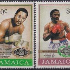 Sellos: F-EX27767 JAMAICA MNH 1986 BOXING CHAMPIONS.. Lote 293290313