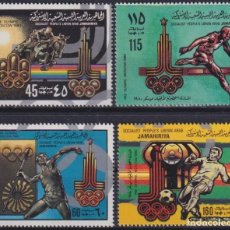 Sellos: F-EX27778 LIBYA MNH 1980 MOSCOW OLYMPIC GAMES SOCCER EQUESTRIAN ATHLETISM.. Lote 293290318