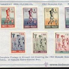 Sellos: SELLOS PARAGUAY 1960 7 VALORES JUEGOS OLIMPICOS. Lote 26978919