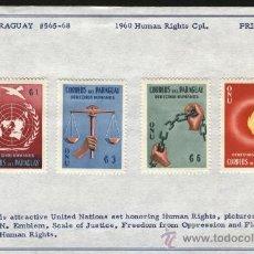 Sellos: SELLOS PARAGUAY 1960 DERECHOS HUMANOS. Lote 27097070