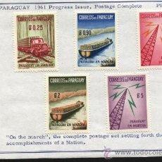 Sellos: SELLOS PARAGUAY 1961 PARAGUAY EN MARCHA. Lote 26259374