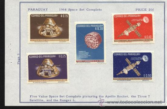 SELLOS PARAGUAY 1964 5 VALORES TEMA EL ESPACIO (Sellos - Extranjero - América - Paraguay)