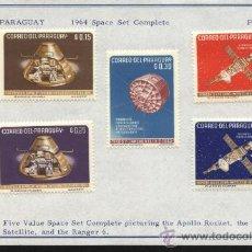 Sellos - sellos paraguay 1964 5 valores tema el espacio - 26259376