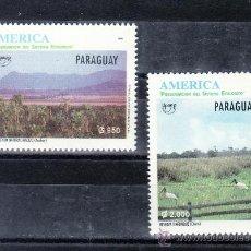 Sellos: PARAGUAY 2691/2 SIN CHARNELA, TEMA UPAEP, FAUNA, PAJAROS PRESERVACION DEL SISTEMA ECOLOGICO, . Lote 24436529