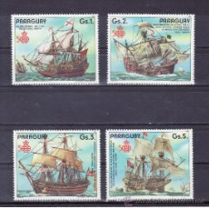 Selos: PARAGUAY 2295/8 SIN CHARNELA, BARCO, ESPAMER 87, V CENTº DESCUBRIMIENTO DE AMERICA . Lote 26245216
