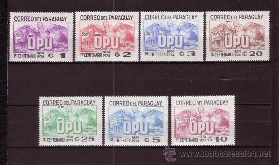 PARAGUAY 1396/400 Y AEREO 691/92*** - AÑO 1975 - CENTENARIO DE LA UNION POSTAL UNIVERSAL (Sellos - Extranjero - América - Paraguay)