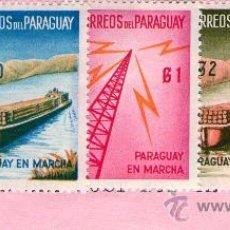 """Sellos: 1181- PARAGUAY EN MARCHA- SERIE DE 5 VALORES """"NUEVOS"""" EMISION DE 1961. Lote 26299541"""