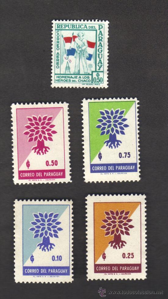 PARAGUAY - LOTE DE 5 SELLOS NUEVOS. (Sellos - Extranjero - América - Paraguay)
