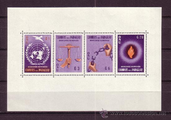 PARAGUAY HB 3*** - AÑO 1960 - DERECHOS HUMANOS (Sellos - Extranjero - América - Paraguay)