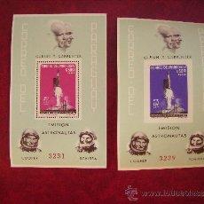 Sellos: 2 HOJAS BLOQUE DE PARAGUAY 1964-ASTRONAUTAS,ESPACIO.. Lote 35812092