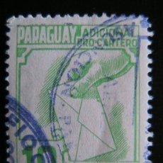 Sellos: PARAGUAY - SELLO CONMEMORATIVO ADICIONAL PRO CARTERO. Lote 38086057