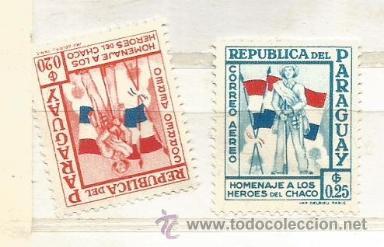 PARAGUAY 1957. HOMENAJE A LOS HÉROES DE CHACO (Sellos - Extranjero - América - Paraguay)