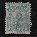 Sellos: PARAGUAY 11 USADA, ESCUDO, LEON HERALDICO, . Lote 43504762