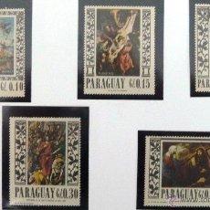 Sellos: SELLOS DE PARAGUAY 1967. 5 VALORES NUEVOS. PINTURA.. Lote 46758149